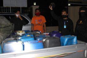1.015 Liter Ciu Oplosan Siap Edar di Mojolaban dan Polokarto Sukoharjo Diamankan Polisi
