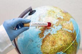 Ilustrasi virus corona di dunia. (Freepik)