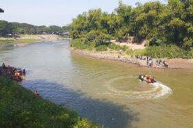 Pelajar SMP Tenggelam di Sungai Bengawan Madiun Belum Ditemukan