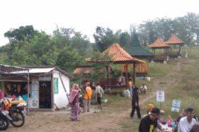 Suasana objek wisata Gunung Pegat di Desa Karangasem, Kecamatan Bulu, Sukoharjo, Minggu (31/5/2020). (Istimewa)