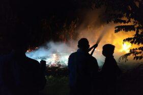 Gara-Gara Bakar Sampah, Rumah Kayu Dihuni ODGJ di Grobogan Hangus Terbakar