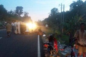 Nekat Bawa 13 Pelayat, Mobil Pikap Kecelakaan di Pracimantoro Wonogiri