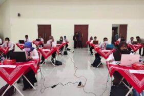 Peserta mengikuti uji kompetensi lelang jabatan eselon II di Gedung Menara Wijaya Kompleks Setda Sukoharjo, Rabu (3/6/2020). (Solopos-Indah Septiyaning W.)