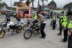 30 Sepeda Motor Disita Polisi Di Tawangmangu Karanganyar, Kenapa?