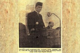 Pidato pertama Soekarno mengenai Pancasila pada 1 Juni 1945. (Wikipedia.org)
