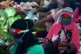 Pedagang Pasar di Boyolali Diajak Disiplin Pakai Masker