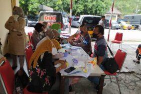 Kegiatan rapid test di Mapolresta Surakarta/Solo, Selasa (2/6/2020). (Solopos-Ichsan Kholif Rahman)