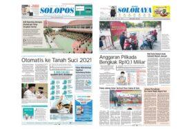Harian Umum Solopos edisi Rabu (3/6/2020).