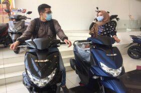 Protokol Kesehatan di Yamaha Flagship Shop Jl Pemuda Semarang. (Istimewa)