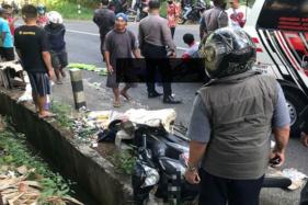 Kecelakaan di Jurang Gantung, Purwantoro, Wonogiri, Rabu (1/7/2020), (Istimewa/Instagram @repostwonogiri)