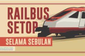 Railbus Batara Kresna Disetop Sebulan