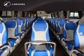 Bagian dalam bus physical distancing buatan Laksana Karoseri, Jawa Tengah. (Instagram @laksanabus)