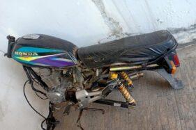 Barang bukti sepeda motor korban disita kepolsian di Mapolres Sragen belum lama ini. (Istimewa)