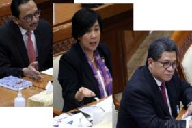 Dari kiri ke kanan: Juda Agung, Aida S. Budiman, dan Doni P. Joewono (Bisnis.com)