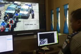 Kocak, Pemotor di Sragen Salting Ditegur Lewat Speaker Gegara Terpantau CCTV Tak Pakai Masker