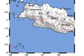Sukabumi Diguncang Gempa Berpusat di Darat