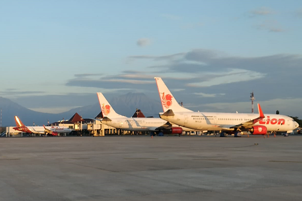 Lion Air di Bandara Adi Soemarmo Solo, Juli 2020. (Istimewa/AP I Bandara Adi Soemarmo Solo)