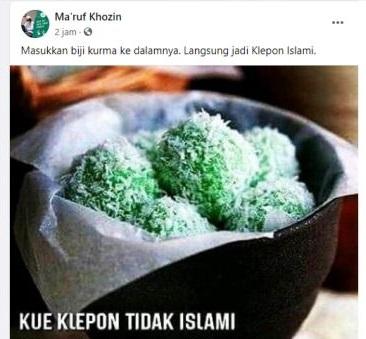 Solusi agar Klepon Islami. (Istimewa)