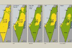 Riwayat aneksasi Israel terhadap Palestina. (Istimewa/Al-Arabiya)
