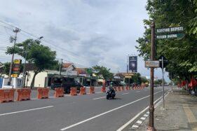 Suasana Jl. Lawu, Karanganyar yang digunakan sebagai lokasi car free day (CFD) setiap akhir pekan Kamis (9/7/2020). (Candra Mantovani)