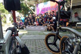 Begini Asyiknya Saat Puluhan Anggota Komunitas Pemilik Sepeda Brompton Ngumpul di Solo