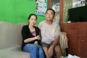 Surani, bersama kakaknya, Wardiyanto, sesampainya di kampung halaman di Dukuh Ngembar, Desa Mojorejo, Karangmalang, Sragen, Kamis (16/7/2020). (Solopos.com/Moh Khodiq Duhri)