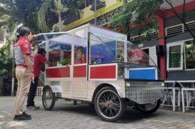Penampakan mobil listrik UMKM karya siswa SMK Model PGRI I Mejayan, Kabupaten Madiun, Jumat (3/7/2020). (Abdul Jalil/Madiunpos.com)