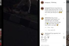 Tangkapan layar Instagram @energisolo tentang sepasang remaja nekat bermesraan di depan Rutan Solo. (Istimewa/@energisolo)