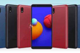 Smartphone Samsung Galaxy A01 Core dilengkapi dengan spesifikasi OS Android One dan Mediatek MT6739 yang dibanderol harga Rp999.000 saat flash sale. (Istimewa/Dok. Samsung Electronics Indonesia)