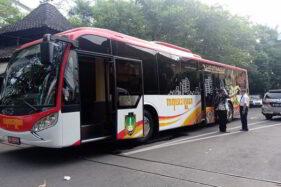 Bus meeting Gatotkaca. (Solopos/Wahyu Prakoso)
