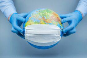 Ilustrasi Bumi yang dilanda pandemi Covid-19. (Freepik)