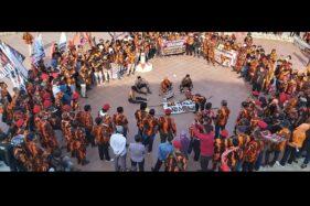 Demo Tolak RUU HIP, Massa di Sukoharjo Bakar Keranda Bertuliskan PKI Dan Komunis