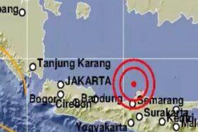 Gempa bumi Jepara, Jawa Tengah. (@infoBMKG-Suara.com)