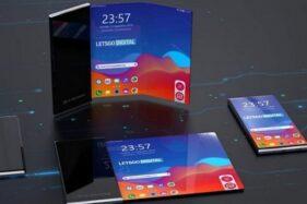 Smartphone dengan layar yang gulung bikinan LG. (Istimewa/Phonearena)