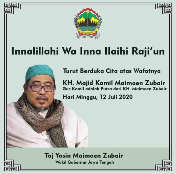Infprmasi Majid Kamil Maimoen Zubair meninggal dunia di Instagram. (Instagram-@tajyasinmz)