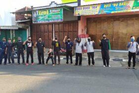 Tak Pakai Masker di Pasar Pahing Jumapolo Bakal Dihukum Push Up