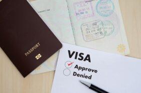 Ilustrasi paspor dan visa. (Freepik)