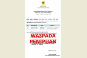 Informasi lowongan pekerjaan palsu mencatut nama PLN. (Istimewa/PLN)