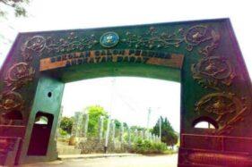 Pintu gerbang Sekolah Calon Perwira TNI Angkatan Darat (Secapa TNI AD) di Hegarmanah, Kecamatan Cidadap, Kota Bandung, Jawa Barat. (Bisnis-Istimewa)