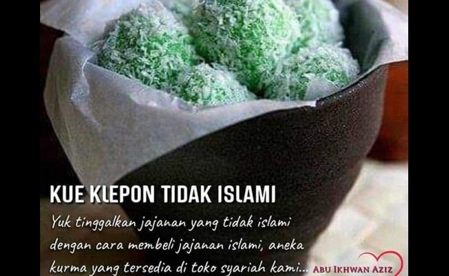 Foto viral klepon tidak Islami. (Istimewa)