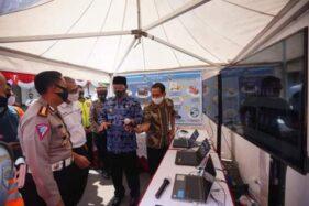 Wali Kota Madiun Maidi menjelaskan program E-TLE atau tilang elektronik yang akan diterapkan, Selasa (14/7/2020). (Istimewa-Pemkot Madiun)