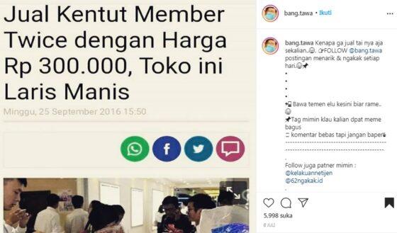 Heboh Kentut Member Twice Dijual Rp300.000? Cek Faktanya