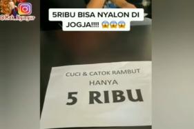 Tangkapan video viral nyalon di Jogja cuma Rp5.000. (Istimewa/Instagram @mak_nyinyiir)
