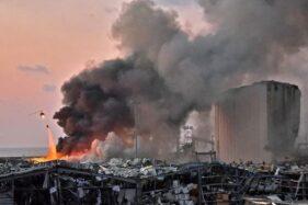 Ledakan guncang Beirut Lebanon. (Detik.com/AFP)