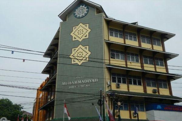 Di-Lockdown, Gedung Muhammadiyah Jateng Disemprot Disinfektan