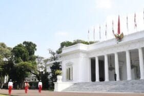 Ilustrasi simulasi upacara pengibaran bendera di Istana. (Biro Pers Setpres)