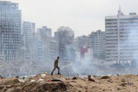 Ledakan di Lebanon (Detik.com/AP Photo)