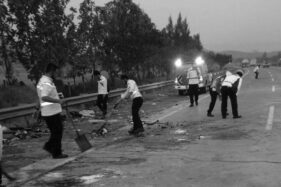 Lokasi kecelakaan maut di tol Cipali (Istimewa)