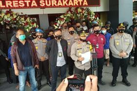 Kapolda Jawa Tengah Irjen Pol Ahmad Luthfi saat menggelar jumpa pers di Mapolresta Solo Kamis (13/8/2020). (Solopos/Ichsan Kholif Rahman)