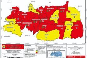 Tujuh kecamatan di Grobogan berubah dari zona merah menjadi zona kuning pada Rabu (12/8/2020). (Instagram: dinkes_kab_grobogan)